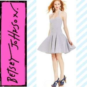 New Betsey Johnson Pinup Swing Halter Dress